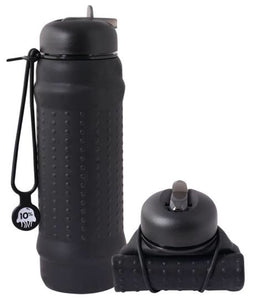 Rolla Bottle Black + Black Lid + Black Strap