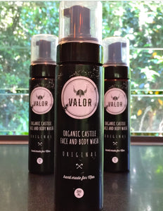 Organic Valor Original Castile Face + Body Wash