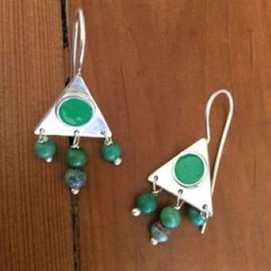Full Moon Earrings Silver