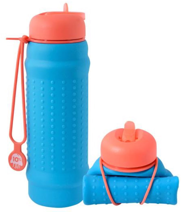Rolla Bottle Aqua + Coral Lid