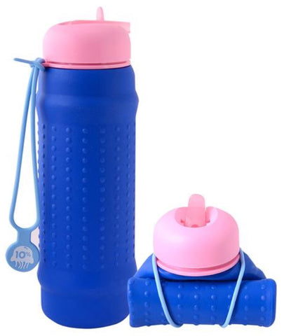 Rolla Bottle Cobalt + Pink Lid + Dusty Blue Strap