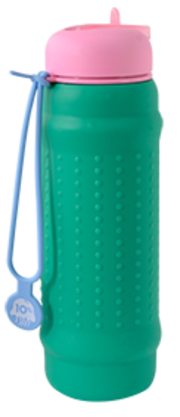 Rolla Bottle Green + Pink Lid + Dusty Blue Strap