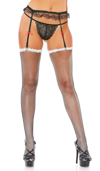 Fishnet Garter And Stocking Set