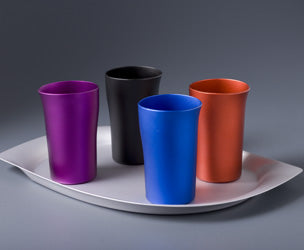FINK Aluminium Beaker - Matt Red | the OBJECT ROOM