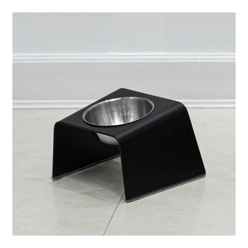 HOWDY HOUNDY Bend Elevated Feeder S - Onyx Black