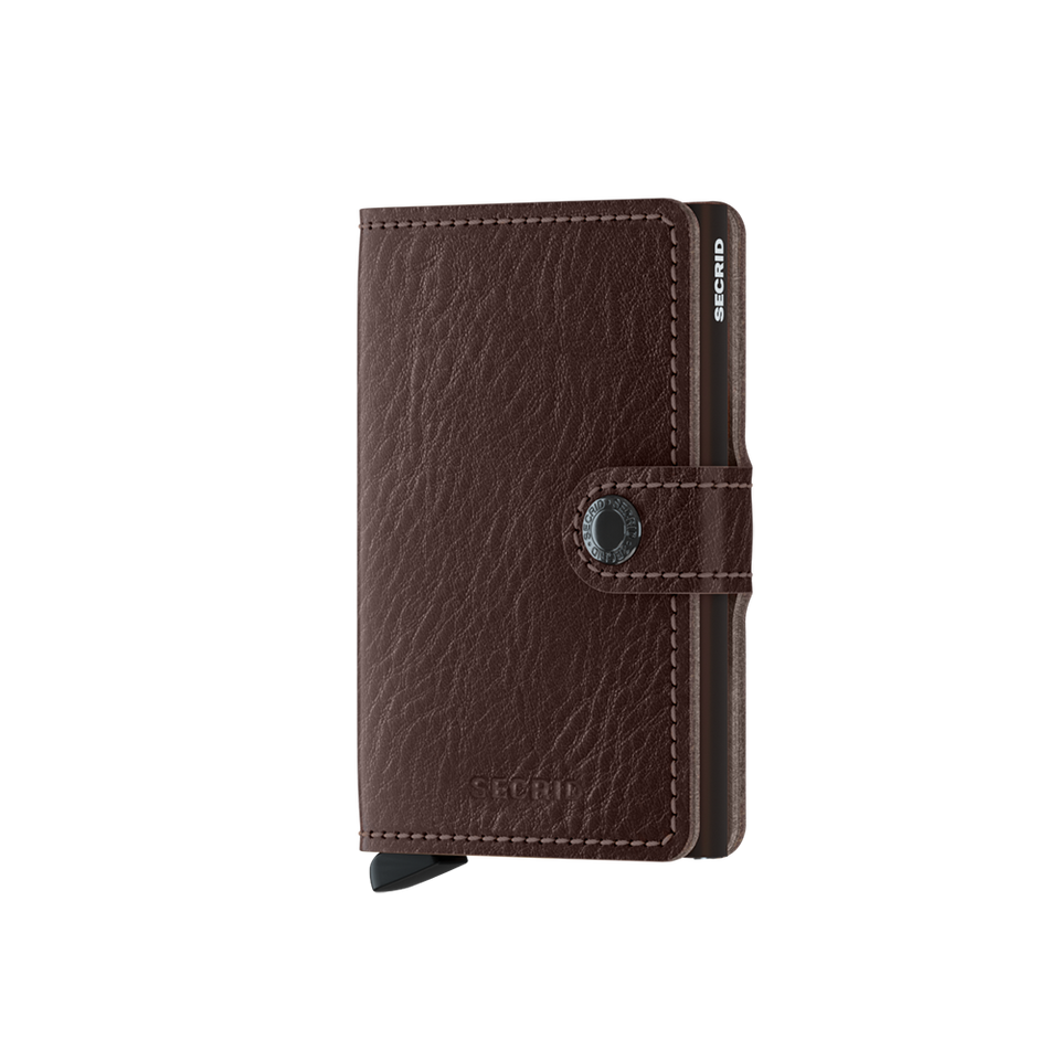 SECRID Miniwallet Leather - Veg Espresso-Brown | the OBJECT ROOM