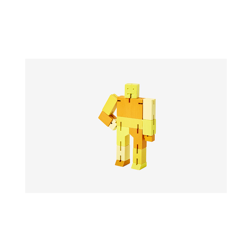 AREAWARE Cubebot Small - Yellow Multi