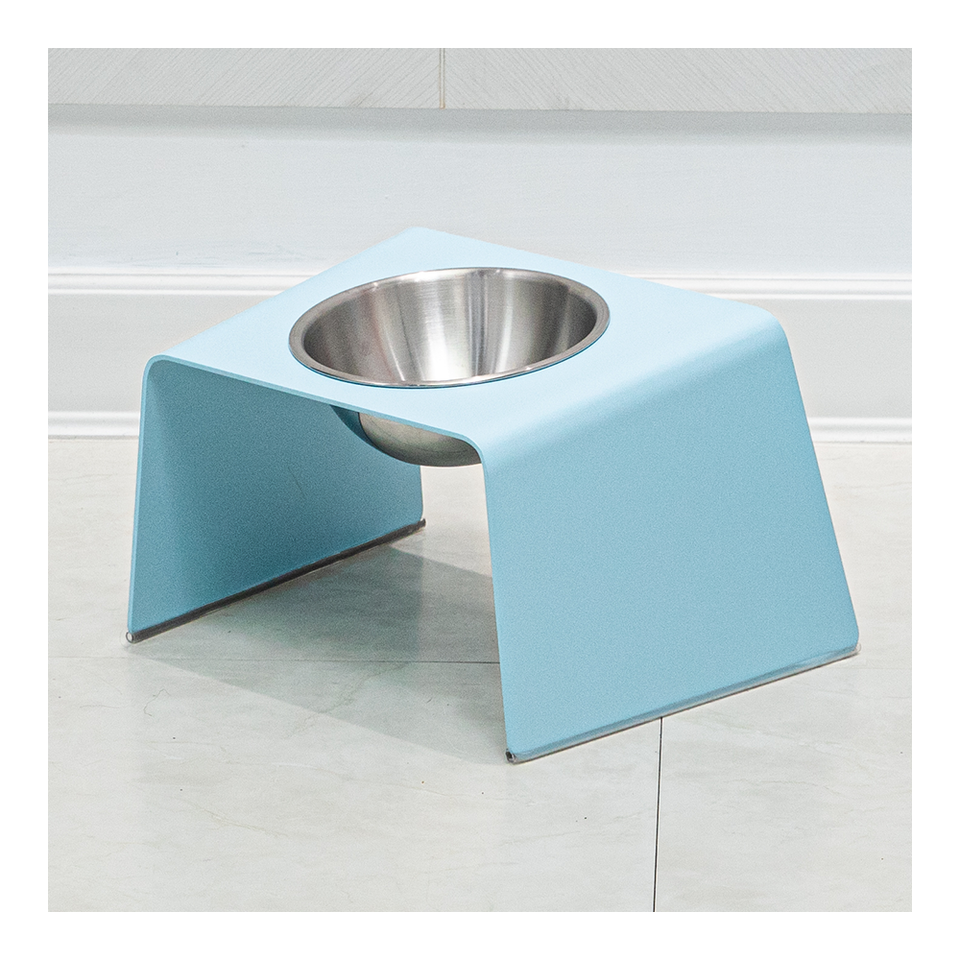HOWDY HOUNDY Bend Elevated Feeder M - Sky Blue