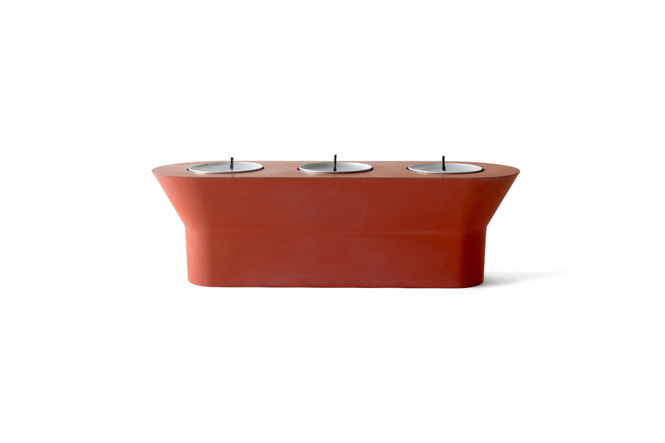 22 DESIGN STUDIO Stretch Candle Holder - Brick Red - the OBJECT ROOM