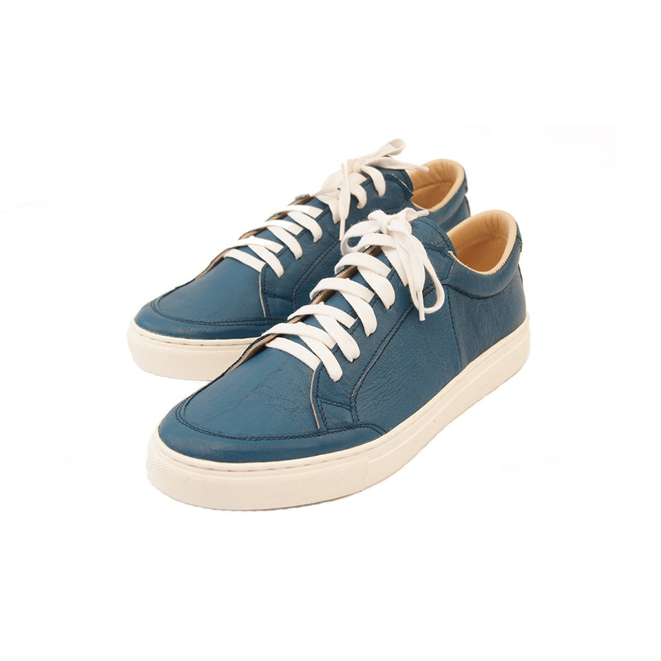 THE REMAKER Leather Sneakers - Bangkokian Blue