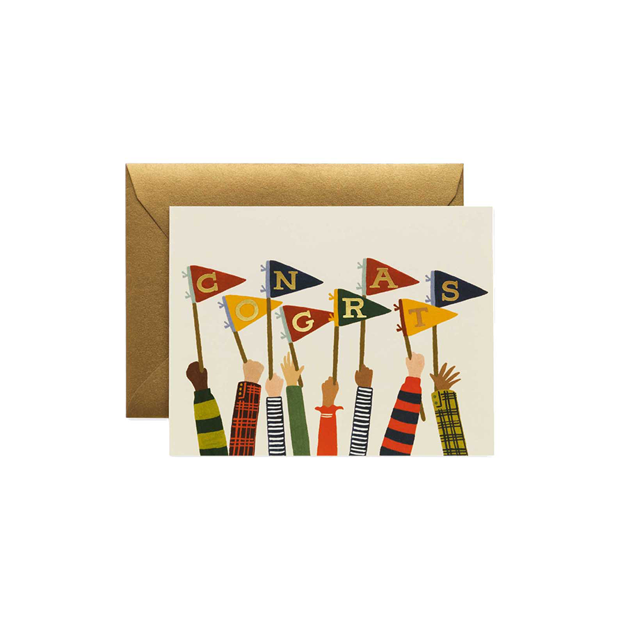 RIFLE PAPER CO. Card - Congrats Pennants