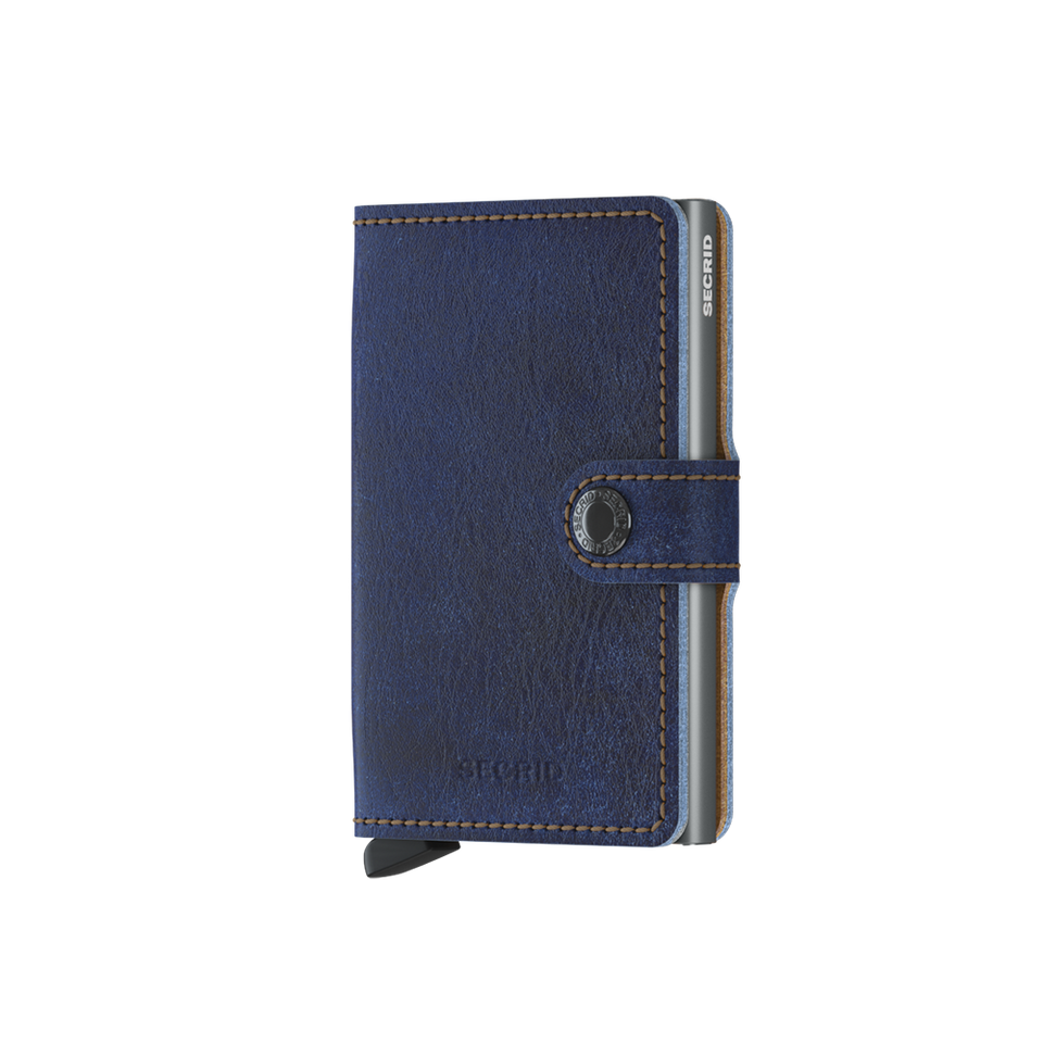 SECRID Miniwallet Leather - Indigo 5 Titanium | the OBJECT ROOM