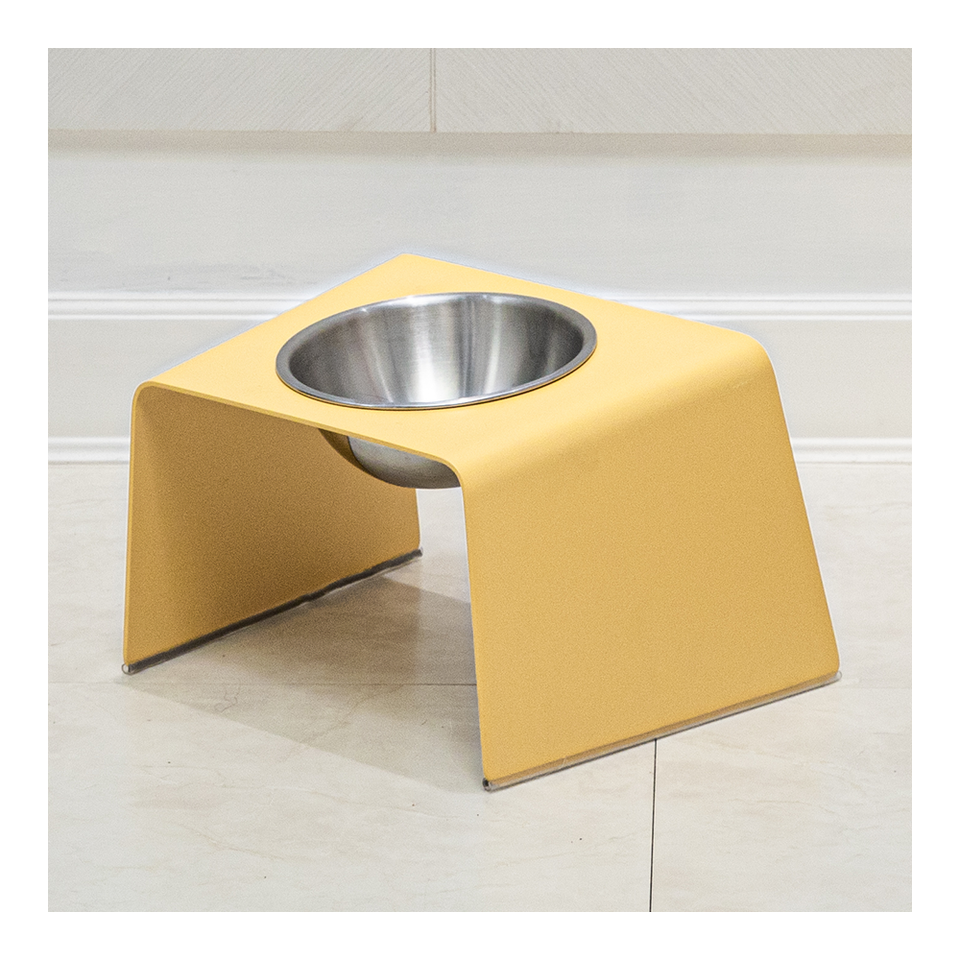 HOWDY HOUNDY Bend Elevated Feeder M - Egg Yellow