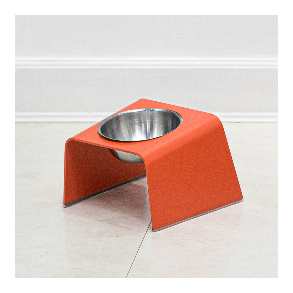 HOWDY HOUNDY Bend Elevated Feeder S - Apple Red