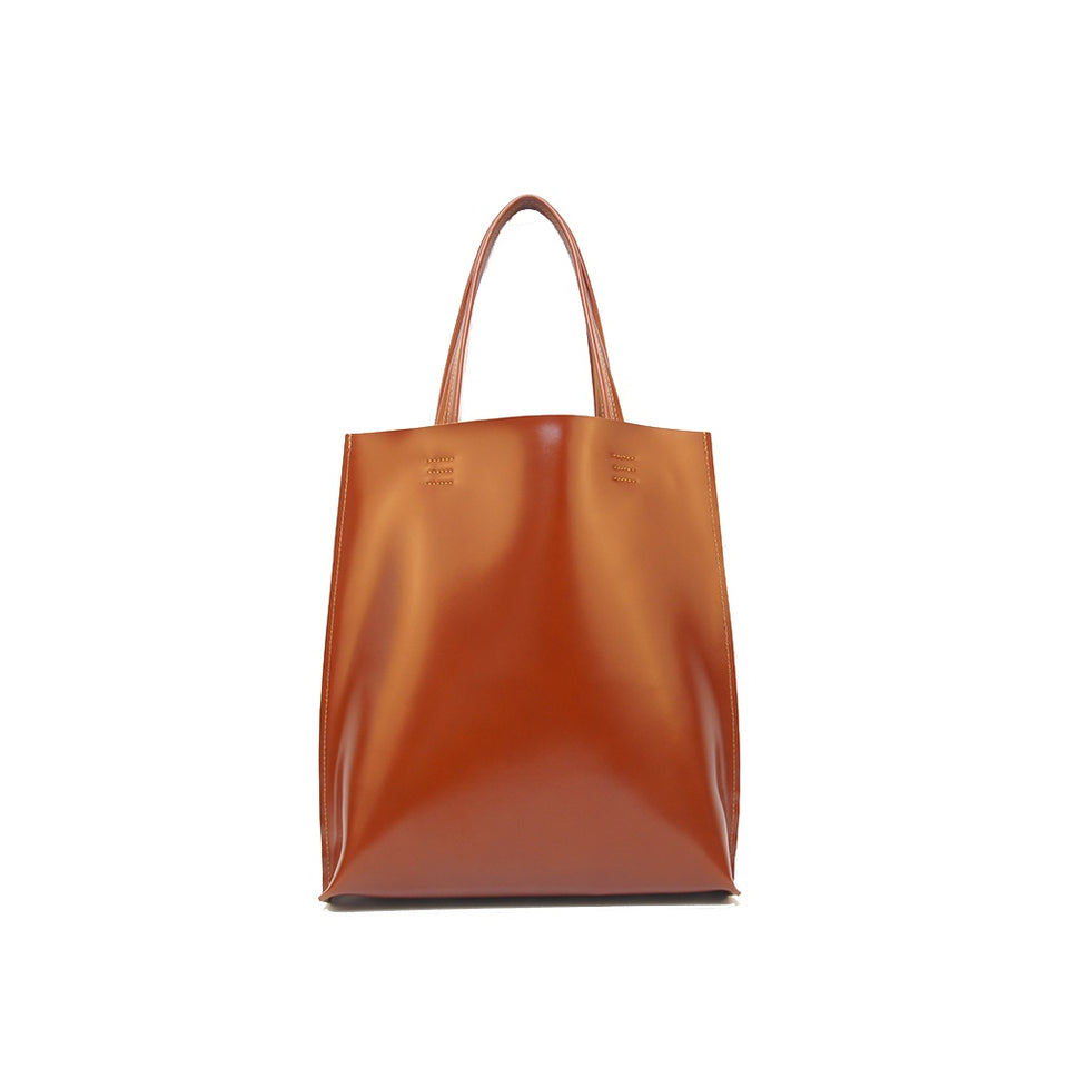 GOODJOB Tote Bag MONO L - Leather Tan