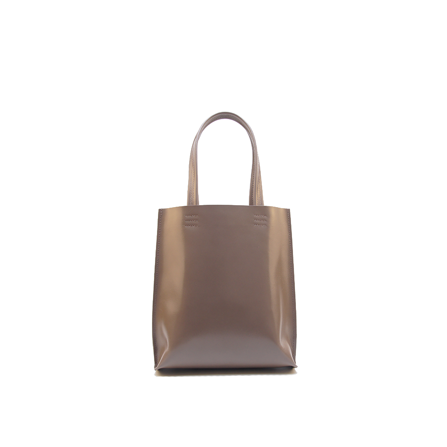 GOODJOB Tote Bag MONO S - Leather Mud Brown