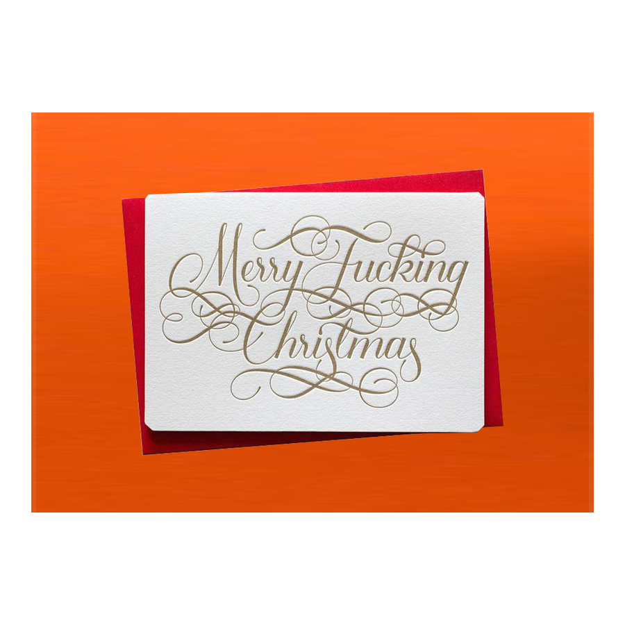 CALLIGRAPHUCK Card - Xmas - Merry F*cking Christmas