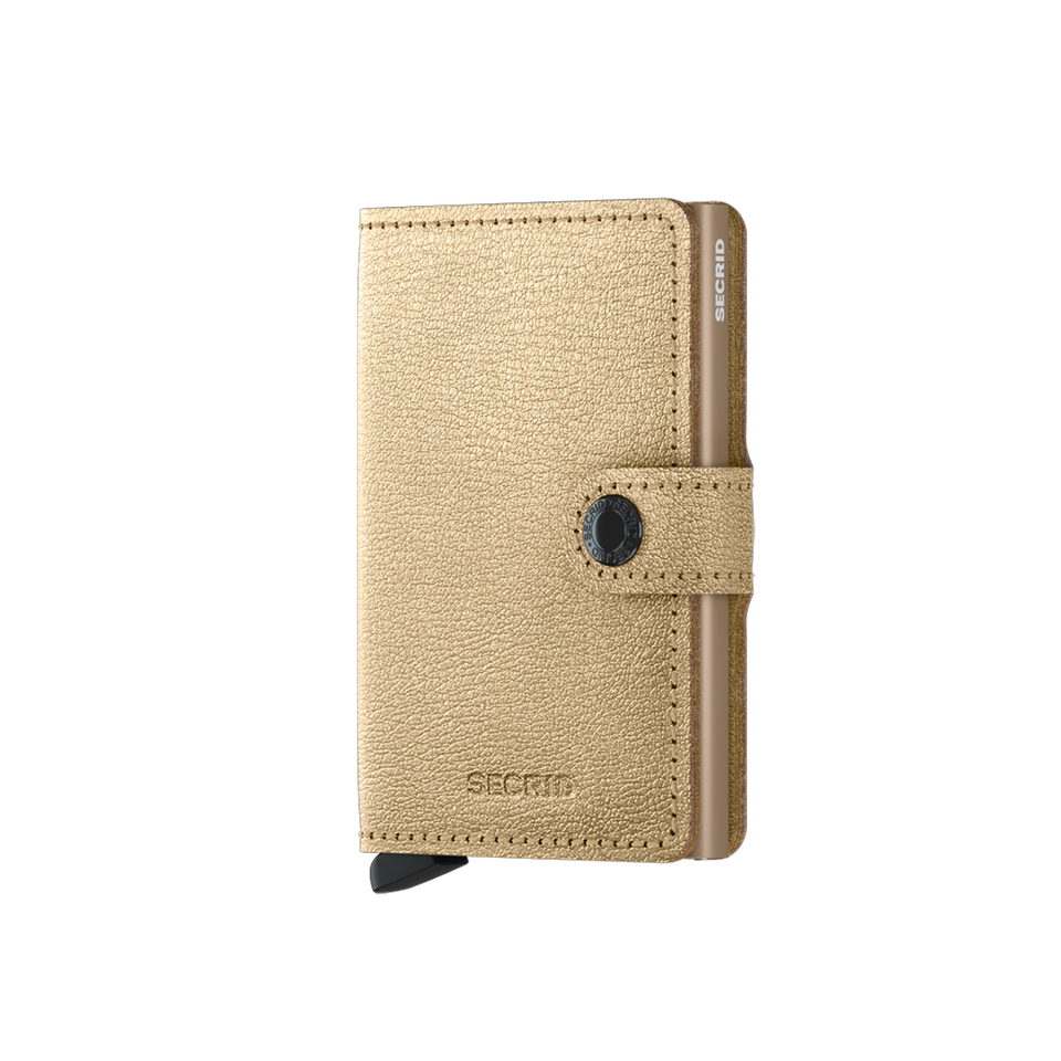 SECRID Miniwallet Leather - Antique Gold