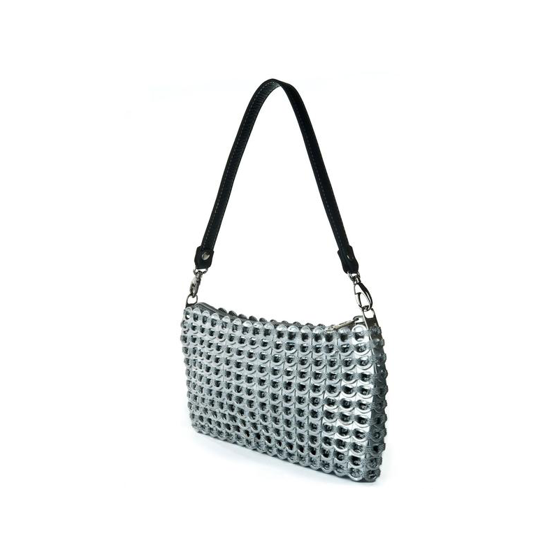 ESCAMA STUDIO Jamie Shoulder Bag with Leather Strap - Silver