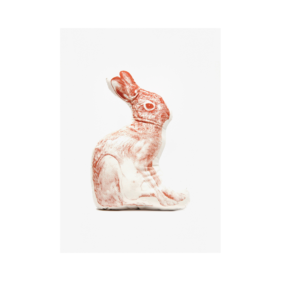 AREAWARE Fauna Large Cushion Rabbit - Brown | the OBJECT ROOM