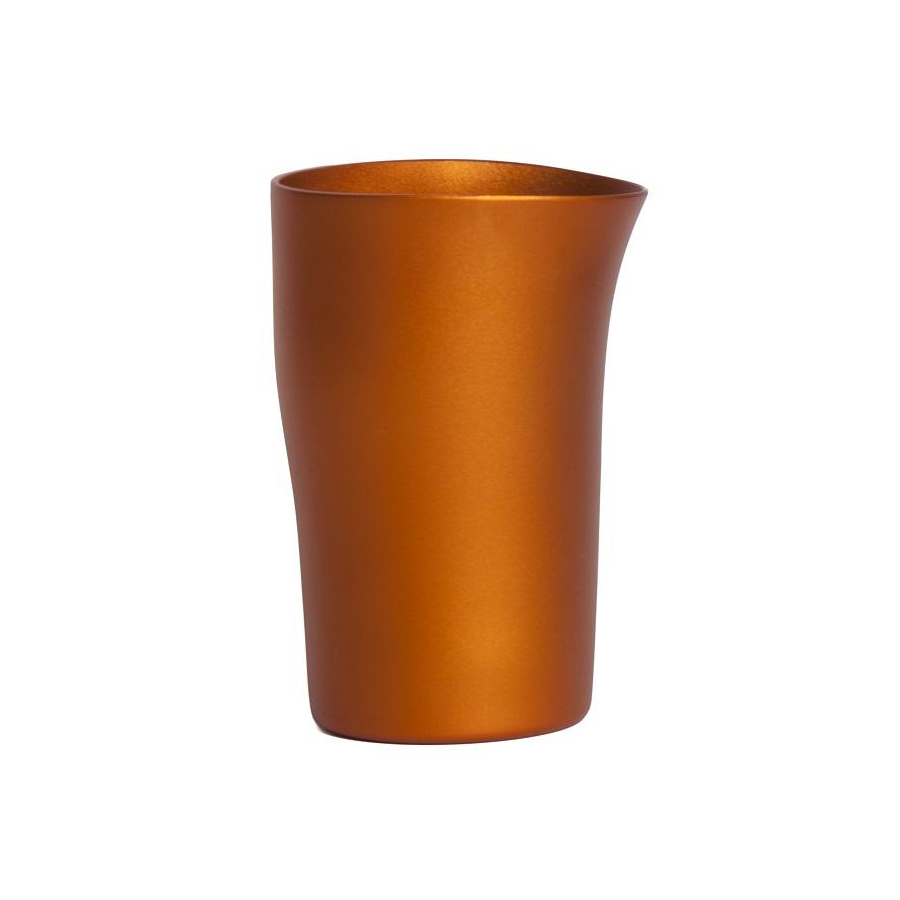 FINK Aluminium Beaker - Matt Orange | the OBJECT ROOM