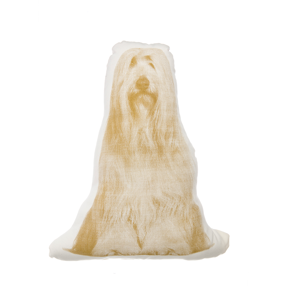 AREAWARE Fauna Cushion - Bearded Collie Ocher | the OBJECT ROOM