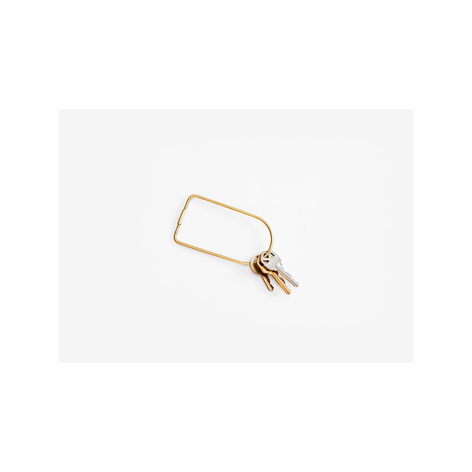 AREAWARE AW Contour Key Ring - Brass Bend | the OBJECT ROOM