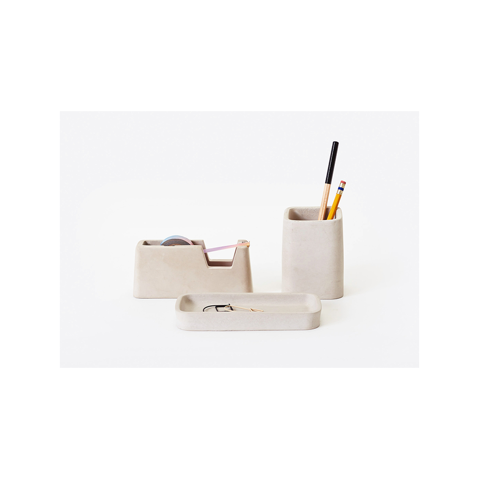AREAWARE AW Concrete Desk Set - Grey | the OBJECT ROOM