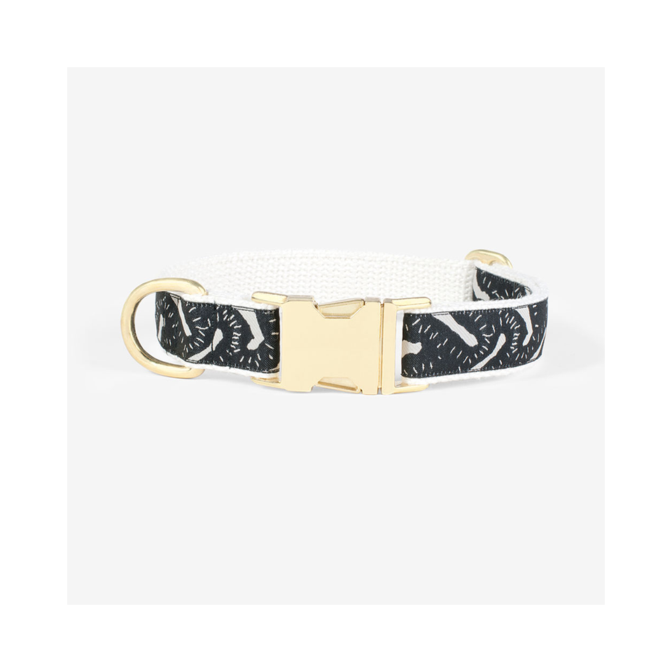 "SEE SCOUT SLEEP Collar 1"" Life Party - Black x Cream 
