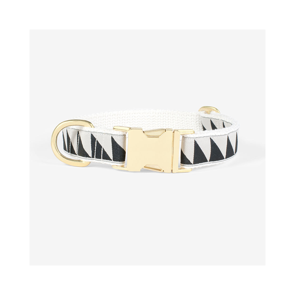 "SEE SCOUT SLEEP Collar 1"" Nice Grill - Cream x Black 