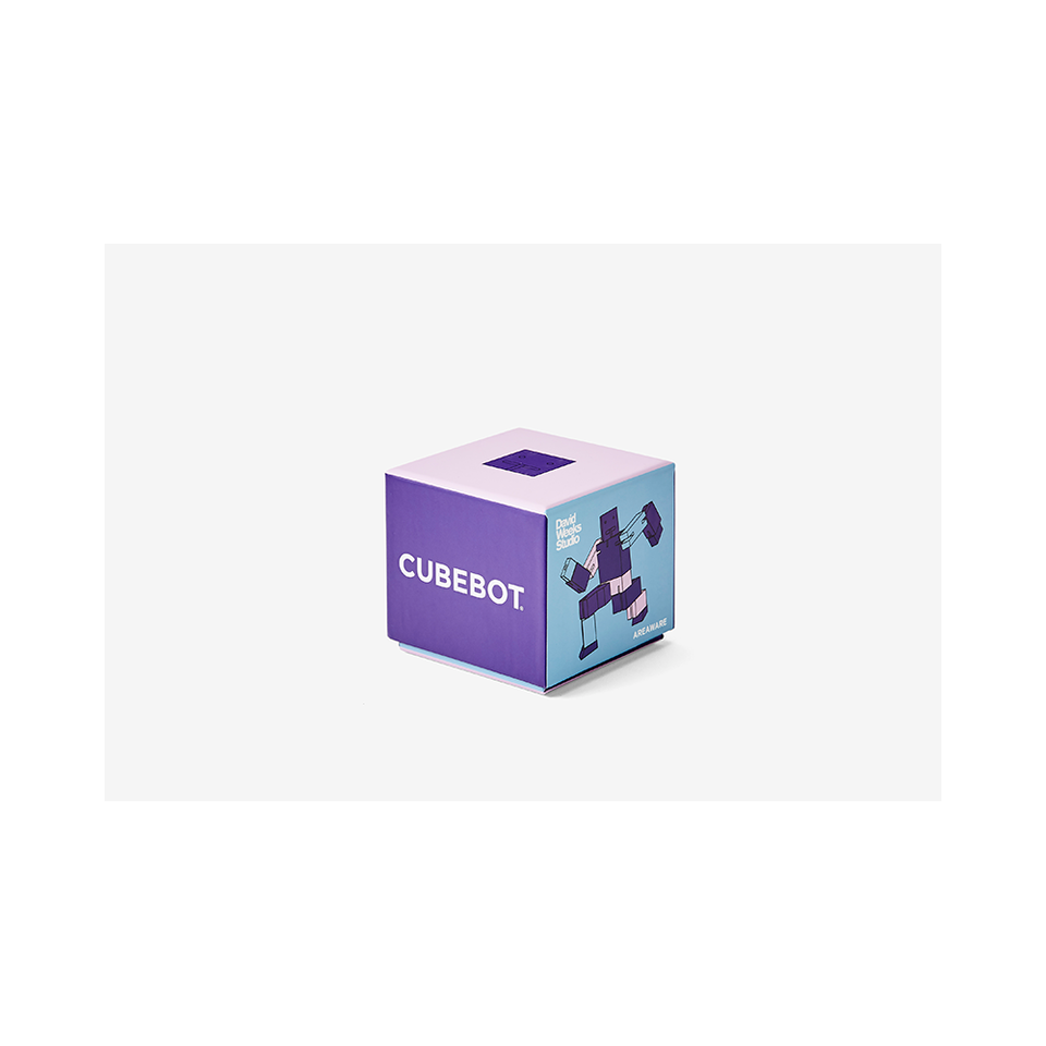 AREAWARE Cubebot Small - Purple Multi