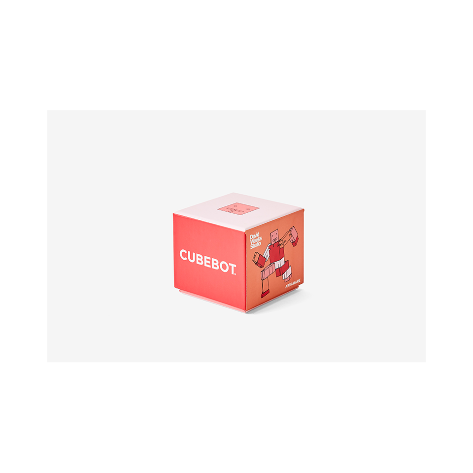 AREAWARE Cubebot Small - Red Multi