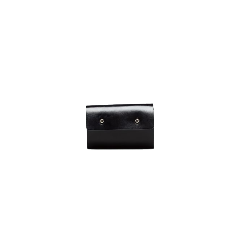 GOODJOB Card Holder 10 Dots - Leather Black | the OBJECT ROOM