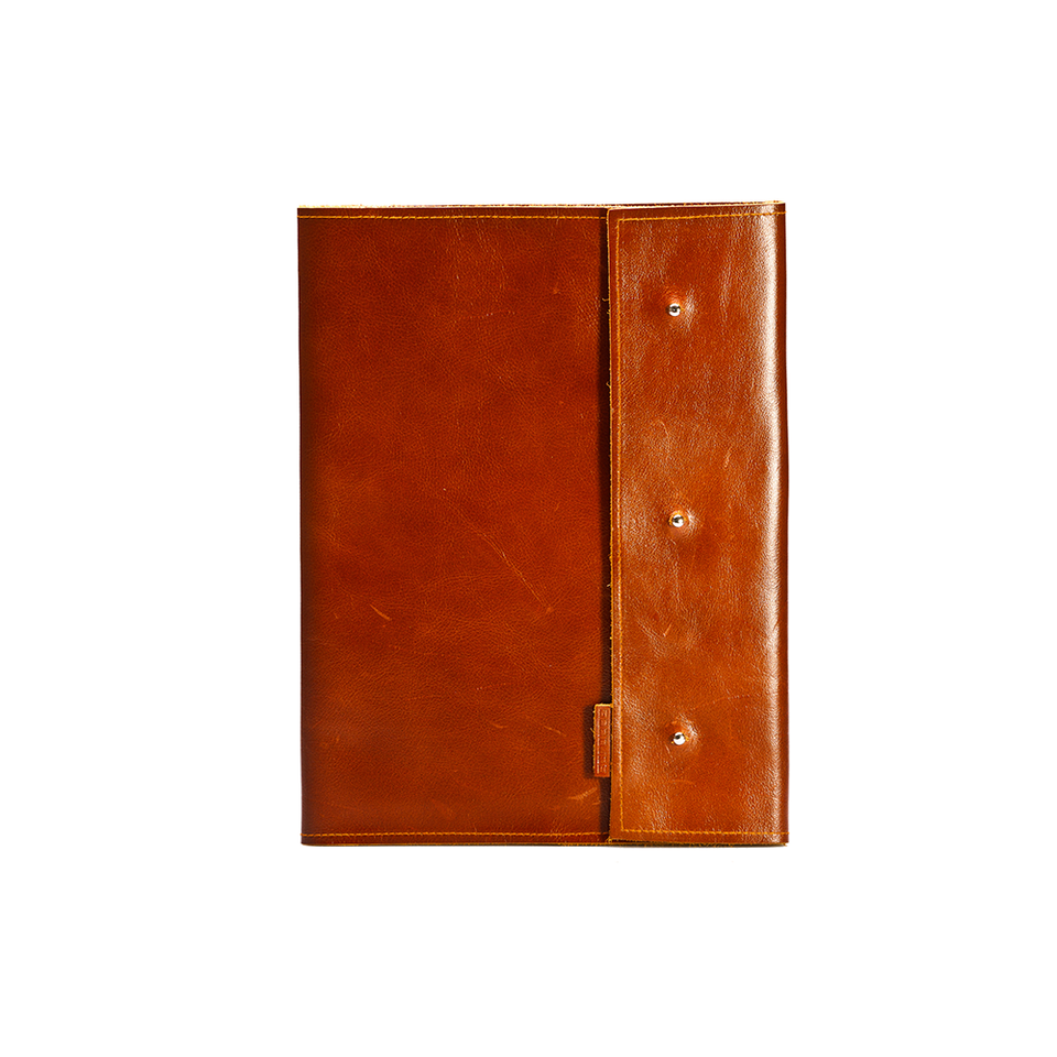 GOODJOB GJ Notepad Holder A4 Dots - Leather Tan | the OBJECT ROOM