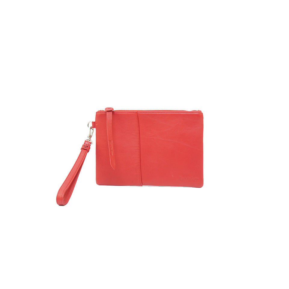 THE REMAKER Leather Clutch - Giza S Red Limited Edition