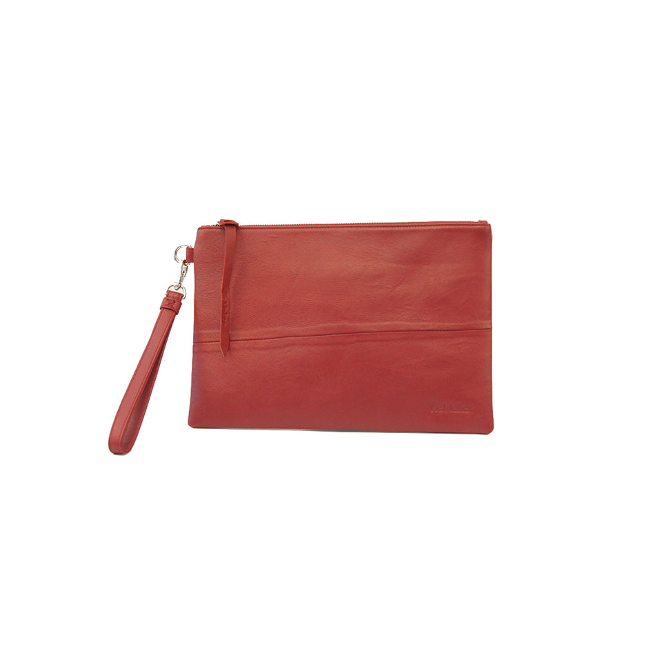THE REMAKER Leather Clutch - Giza M Red Limited Edition