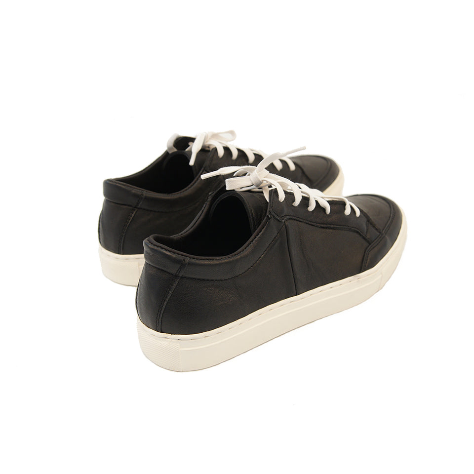 THE REMAKER Leather Sneakers - Bangkokian Black White