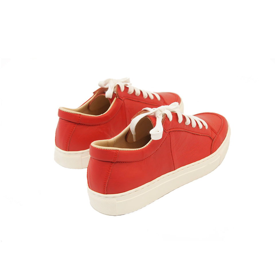 THE REMAKER Leather Sneakers - Bangkokian Red