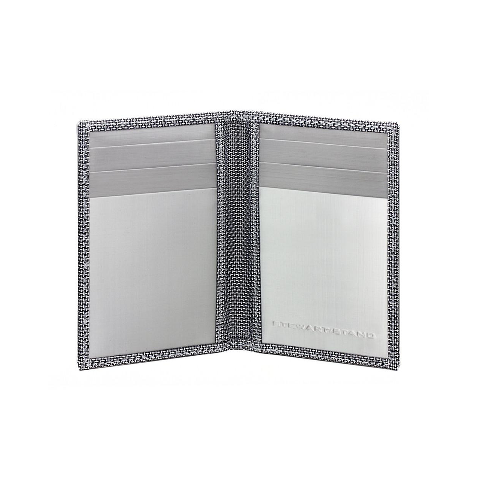 STEWART/STAND Stainless Steel Driving Wallet - Herringbone