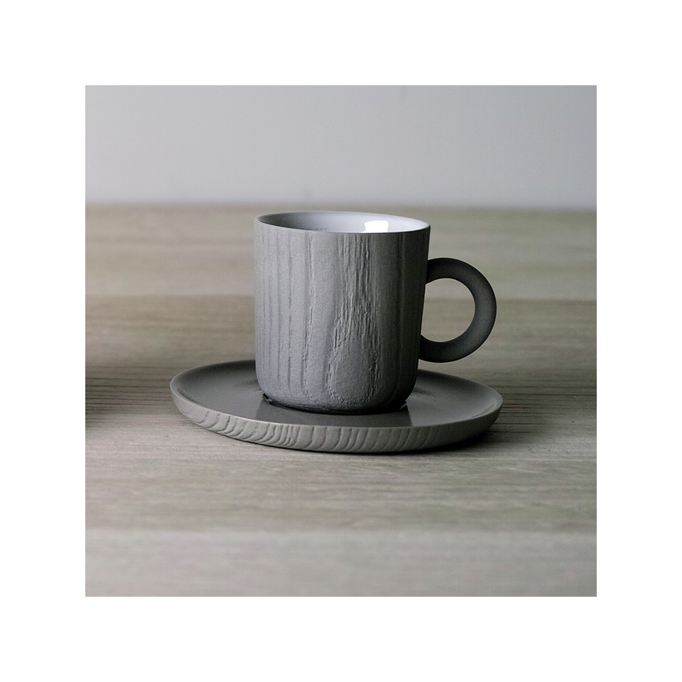 TOAST LIVING MU Espresso Cup & Saucer 80ml - Grey