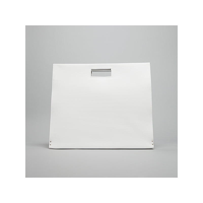 GOODJOB Document Bag A3 Flat - PVC White | the OBJECT ROOM