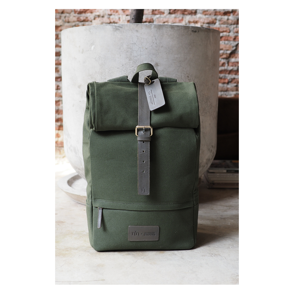NIN LIFESTYLE The Garfors Backpack - Olive Green | the OBJECT ROOM