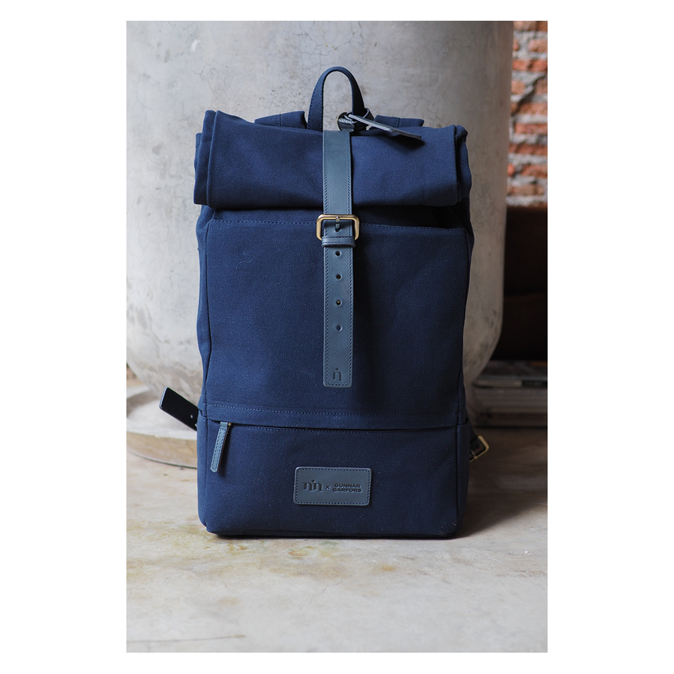 NIN LIFESTYLE The Garfors Backpack - Navy Blue | the OBJECT ROOM