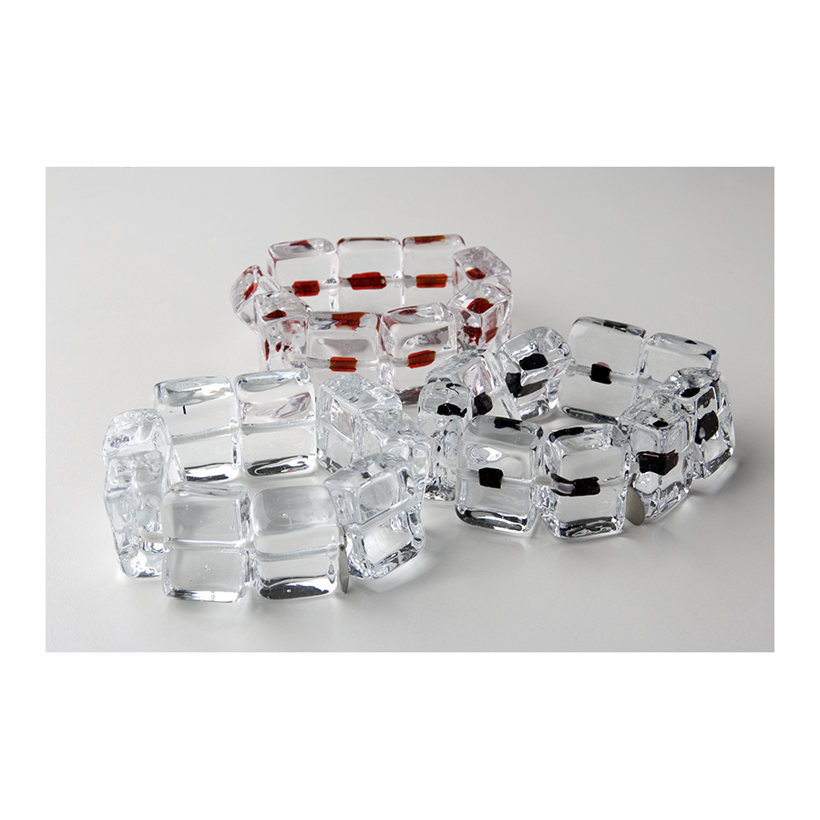 MARINA E SUSANNA SENT Glass Bracelet - Ghiaccio Crystal Black | the OBJECT ROOM