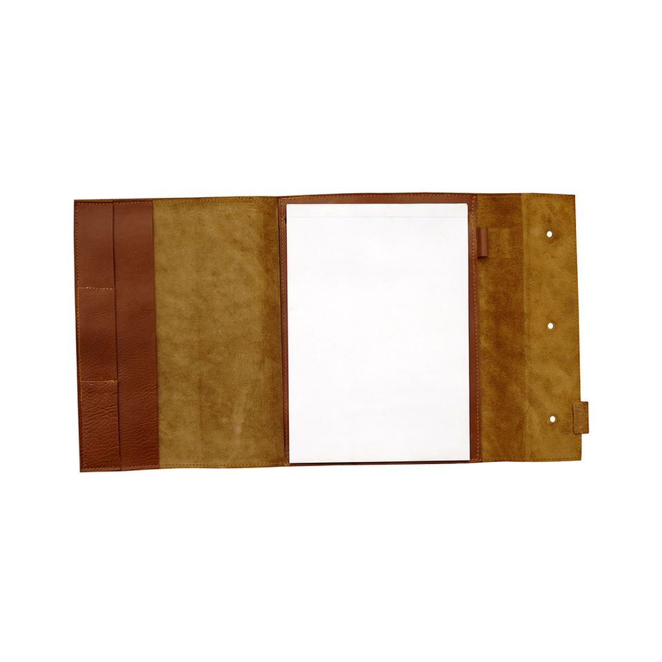 GOODJOB Notepad Holder A4 Dots - Leather Tan | the OBJECT ROOM