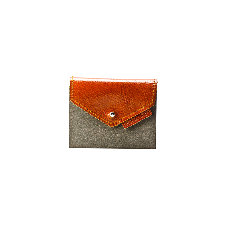GOODJOB Card Holder 10 Hybrid - Recycle Leather Grey | the OBJECT ROOM