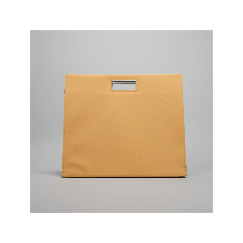 GOODJOB Document Bag A3 Flat - PVC Mustard Yellow | the OBJECT ROOM