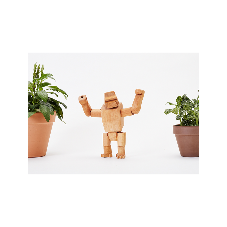 AREAWARE Wooden Animal - Hanno The Gorilla Jr. | the OBJECT ROOM