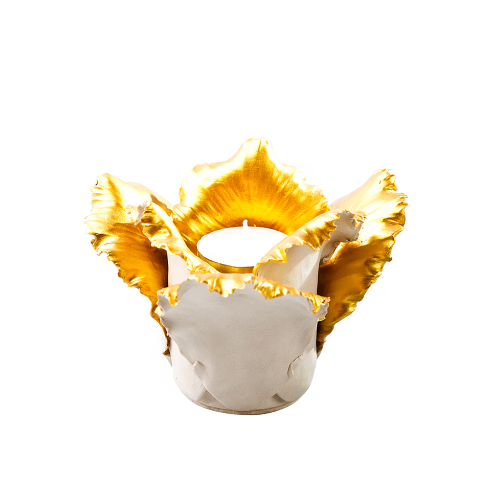 KIDDEE TAMDEE Daffodil Candle Holder - Natural Gold | the OBJECT ROOM