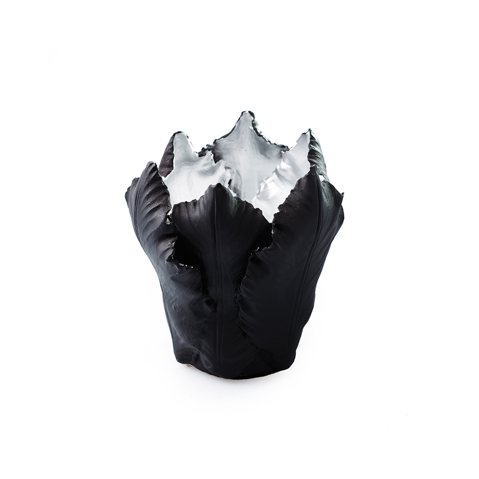 KIDDEE TAMDEE Leaf Candle Holder S - Black Silver | the OBJECT ROOM